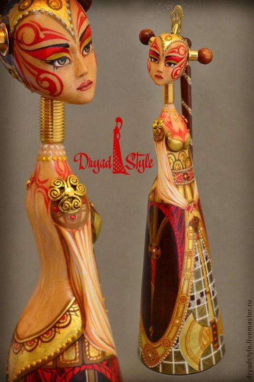 """Коллекционные куклы ручной работы. Ярмарка Мастеров - ручная работа. Купить Эксклюзивная авторская кукла из дерева"""" Орианна-косачка"""". Handmade."""