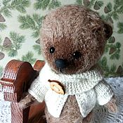 """Мягкие игрушки ручной работы. Ярмарка Мастеров - ручная работа Медвежонок """"Капучинка"""". Handmade."""