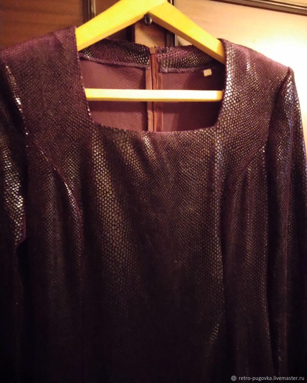 Винтаж: Винтажная одежда: Платье вечернее бордовое, Одежда винтажная, Волгоград,  Фото №1
