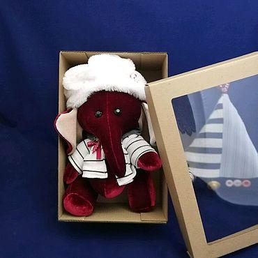 Куклы и игрушки ручной работы. Ярмарка Мастеров - ручная работа Мягкая игрушка.Бархатный слонёнок.Брусничка.. Handmade.