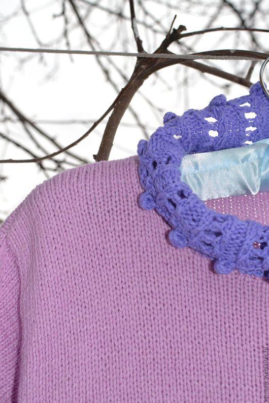 Одежда. Кофты и свитера ручной работы.  Ярмарка мастеров- ручная работа.  Пуловер вязаный `Сирень`. Бледно-розовый.Сиреневый Handmade. Магазин мастера Доминика.Pulover vjazanyj `Siren``