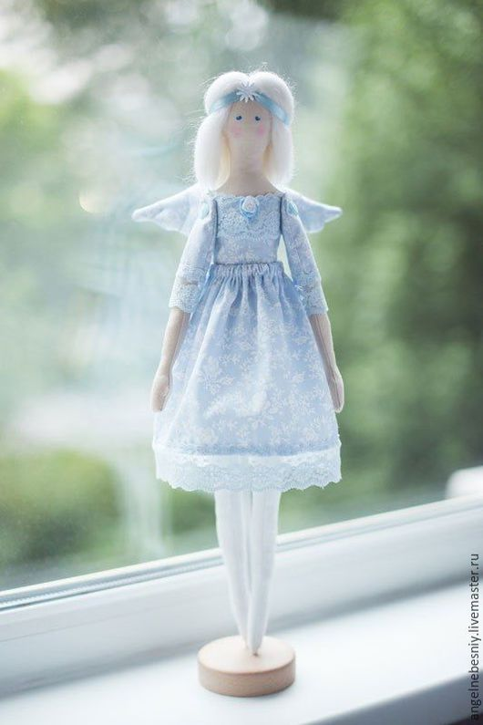 Куклы Тильды ручной работы. Ярмарка Мастеров - ручная работа. Купить Ангел в голубом. Handmade. Голубой, кукла интерьерная