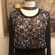 Одежда ручной работы. Ярмарка Мастеров - ручная работа Платье с итальянскими блестками. Handmade.