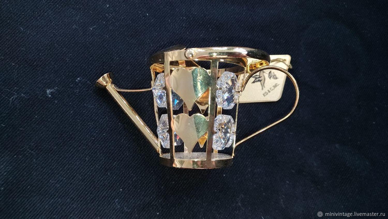 Миниатюрная лейка с 8 кристаллами Сваровски 5,5 см, Модели, Москва,  Фото №1