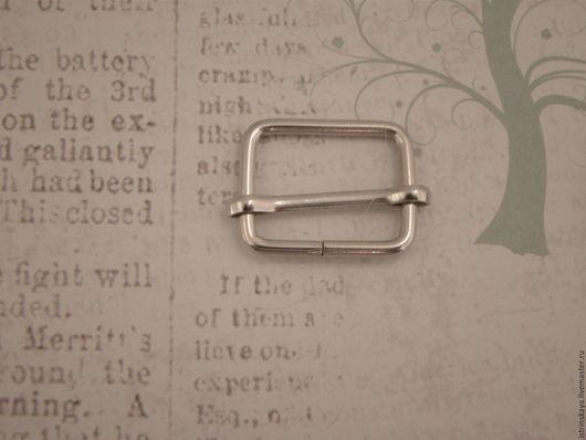 Другие виды рукоделия ручной работы. Ярмарка Мастеров - ручная работа. Купить Регулятор ремня 20мм никель. Handmade. Серебряный