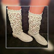 Обувь ручной работы handmade. Livemaster - original item Knitting custom knitted Boots