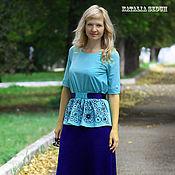 """Одежда ручной работы. Ярмарка Мастеров - ручная работа Вязаная стильная юбка """"Агат"""". Handmade."""