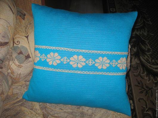 Текстиль, ковры ручной работы. Ярмарка Мастеров - ручная работа. Купить Вязаная наволочка для подушки. Handmade. Декоративные подушки