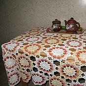 Для дома и интерьера handmade. Livemaster - original item tablecloth openwork knit. Handmade.