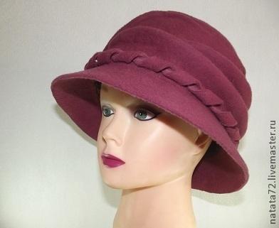 Шляпа Фантазия малиново-розовая