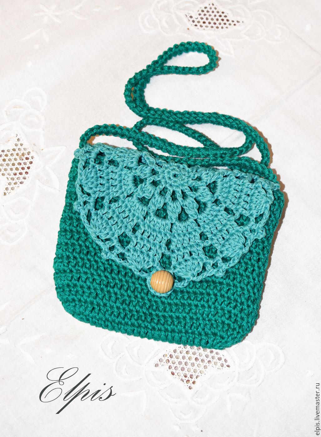 Вязание маленькие сумочки крючком 24