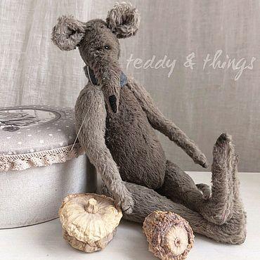 Куклы и игрушки ручной работы. Ярмарка Мастеров - ручная работа Крыса тедди. Handmade.