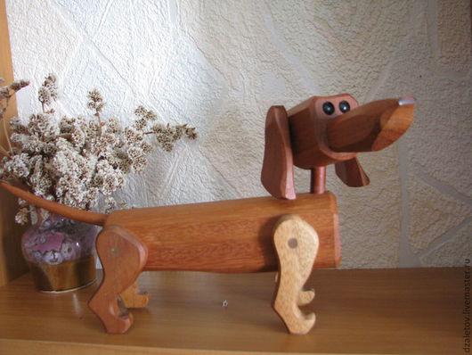 Игрушки животные, ручной работы. Ярмарка Мастеров - ручная работа. Купить собака Такса. Handmade. Коричневый, такса