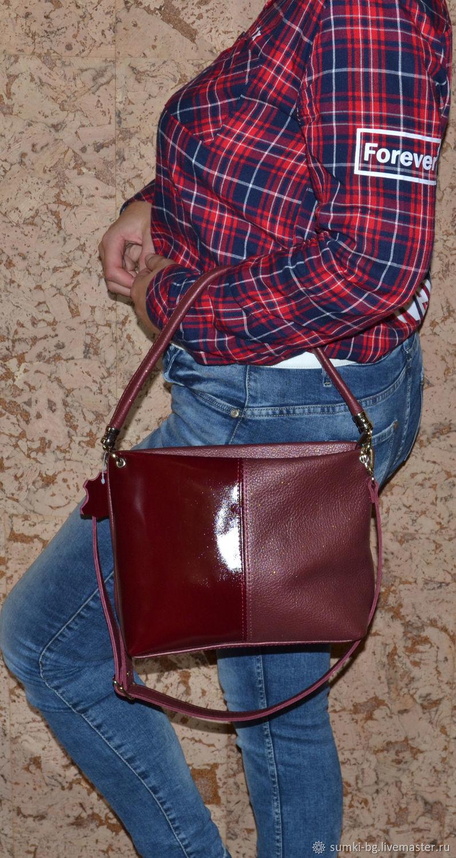 Bag leather Bag for Hiking Model 108, Classic Bag, Bogorodsk,  Фото №1