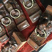 """Винтаж ручной работы. Ярмарка Мастеров - ручная работа Антикварные детали мебели """" Львы с кольцами"""" Европа. Handmade."""