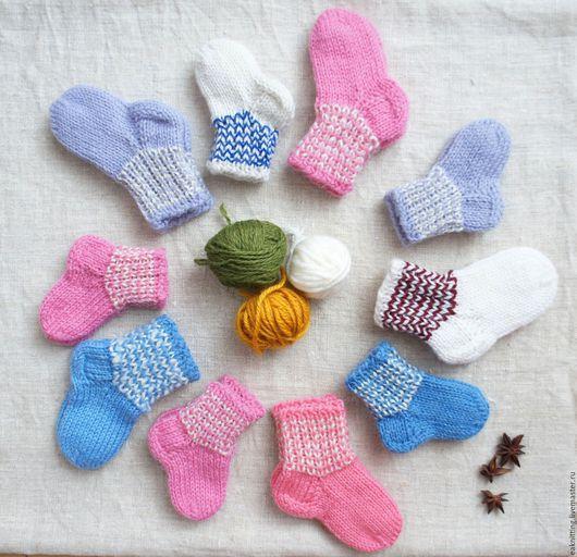 Носки, Чулки ручной работы. Ярмарка Мастеров - ручная работа. Купить Носки детские. Handmade. Комбинированный, Носки шерстяные, шерсть