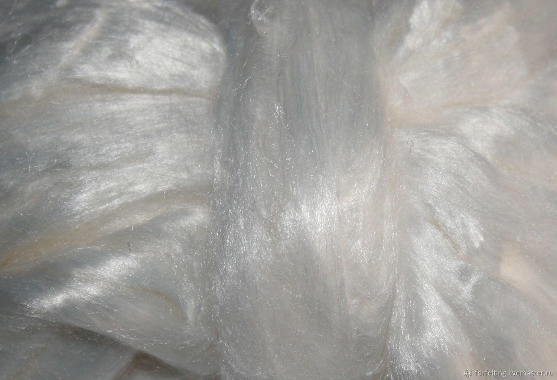 Вискоза для валяния 25 гр. Белый Волокна для валяния, Волокна, Смоленск,  Фото №1