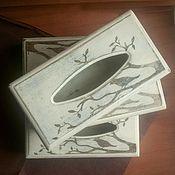 Для дома и интерьера ручной работы. Ярмарка Мастеров - ручная работа Салфетница в стиле прованс с тёмным рисунком. Handmade.