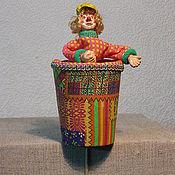 Куклы и игрушки ручной работы. Ярмарка Мастеров - ручная работа Петрушка , Кукла тростевая. Handmade.
