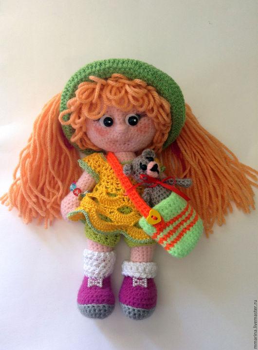 Человечки ручной работы. Ярмарка Мастеров - ручная работа. Купить кукла рыжуля. Handmade. Желтый, игрушка крючком, акрил