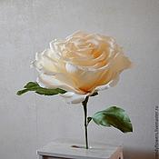 Свадебный салон ручной работы. Ярмарка Мастеров - ручная работа Большой бумажный цветок Роза из гофрированной бумаги. Handmade.
