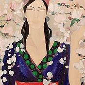 Картины ручной работы. Ярмарка Мастеров - ручная работа В японском саду. Handmade.