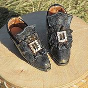 Куклы и игрушки ручной работы. Ярмарка Мастеров - ручная работа Винтажные туфельки. Handmade.