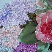 """Картины и панно ручной работы. Ярмарка Мастеров - ручная работа """"Живая"""" картина лентами. Handmade."""