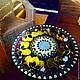 """Мебель ручной работы. Заказать Столик """" Лимончики-3"""". ArtFlat. Ярмарка Мастеров. Витражное стекло, ручная роспись"""