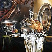 """Картины и панно ручной работы. Ярмарка Мастеров - ручная работа Картина маслом на холсте """"Натюрморт"""" 55/50см. Handmade."""