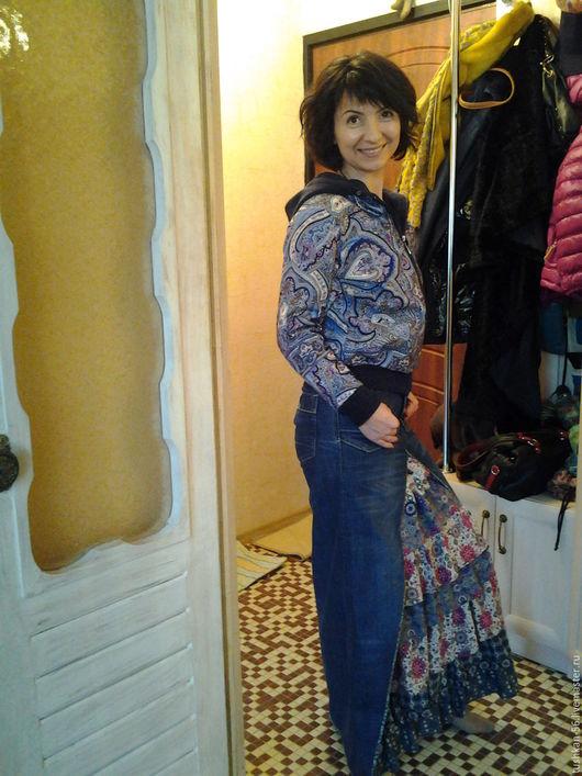 Юбка из джинс