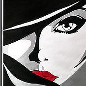 Картины ручной работы. Ярмарка Мастеров - ручная работа Картины: Дама. Handmade.