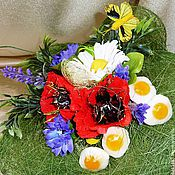 Цветы и флористика ручной работы. Ярмарка Мастеров - ручная работа Букет из конфет  Завтрак на траве. Handmade.