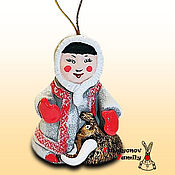 Сувениры и подарки handmade. Livemaster - original item Hunt with a mammoth, ceramic bell. Handmade.