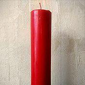Ритуальная свеча ручной работы. Ярмарка Мастеров - ручная работа Свечи красные, синие, зеленые, черные восковые. Handmade.
