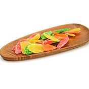 Посуда handmade. Livemaster - original item Plate of asymmetric shape made of acacia 30h12. Wooden plate. Handmade.