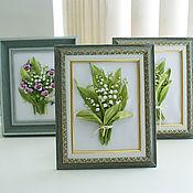 Pictures handmade. Livemaster - original item Framed miniature March 8. Handmade.