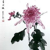 Картины и панно ручной работы. Ярмарка Мастеров - ручная работа хризантема. Handmade.