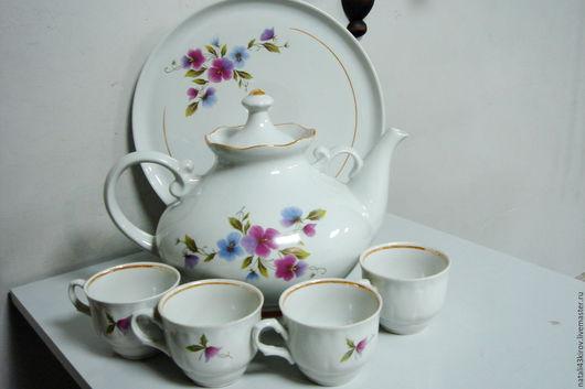Винтажная посуда. Ярмарка Мастеров - ручная работа. Купить Набор для чайной церемонии. Винтаж.. Handmade. Белый, винтаж, дачный интерьер