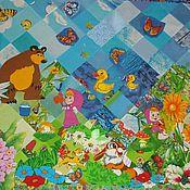 Для дома и интерьера ручной работы. Ярмарка Мастеров - ручная работа Одеяло Маша и Медведь. Handmade.