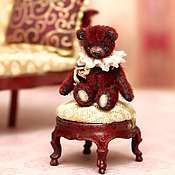 """Куклы и игрушки ручной работы. Ярмарка Мастеров - ручная работа Микро-тедди-мишка """"Бордо"""" (3,5см). Handmade."""