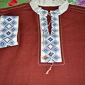 Русский стиль handmade. Livemaster - original item Men`s linen shirt Slavic, Russian. Handmade.