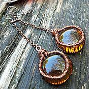 Украшения handmade. Livemaster - original item Copper earrings ART.00798. Handmade.