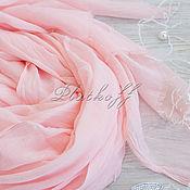 Аксессуары handmade. Livemaster - original item Peach-pink cotton stole