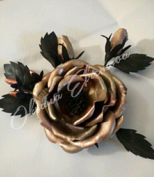 Броши ручной работы. Ярмарка Мастеров - ручная работа. Купить Золотая роза. Handmade. Золотое украшение