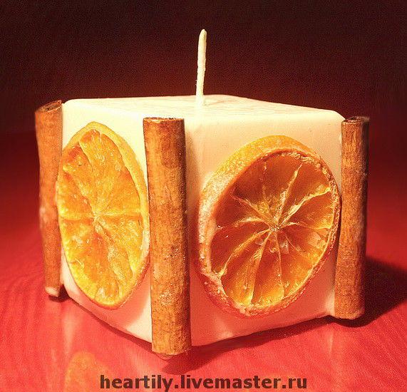 Свечи своим руками с апельсинами