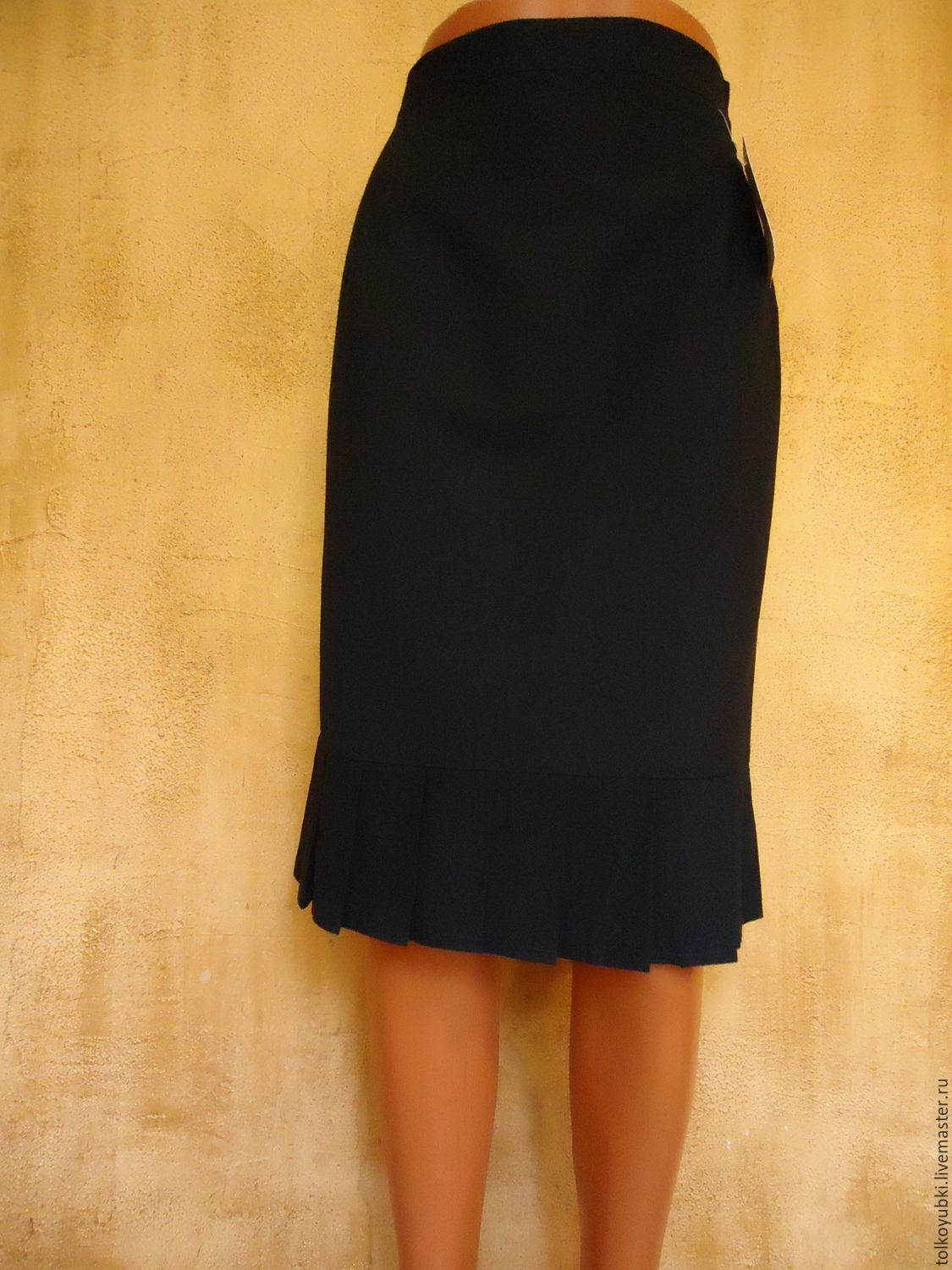 Black Skirt With Pleats On The Bottom Shop Online On