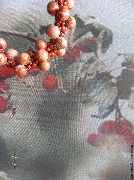 Комплекты украшений ручной работы. Ярмарка Мастеров - ручная работа. Купить Комплект Поздняя ягодка. Handmade. Рыжий, травы