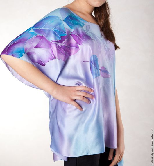 """Блузки ручной работы. Ярмарка Мастеров - ручная работа. Купить Батик блуза """"Сиреневая дымка"""". Handmade. Сиреневый, купить блузу"""
