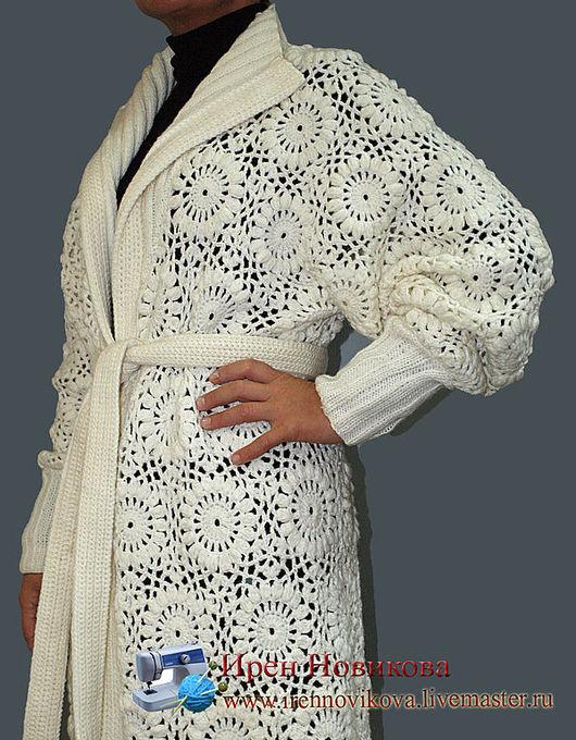 """Верхняя одежда ручной работы. Ярмарка Мастеров - ручная работа. Купить Пальто вязаное """"Белая сказка"""". Handmade. Пальто вязаное"""